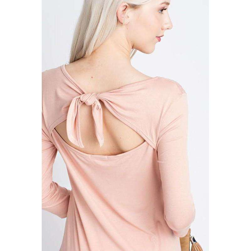 Karlie Three Quarter Sleeved Top With Tie Back