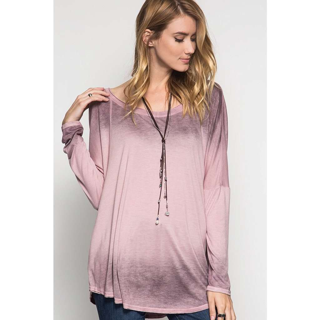 Mindy L/S Ombre Top