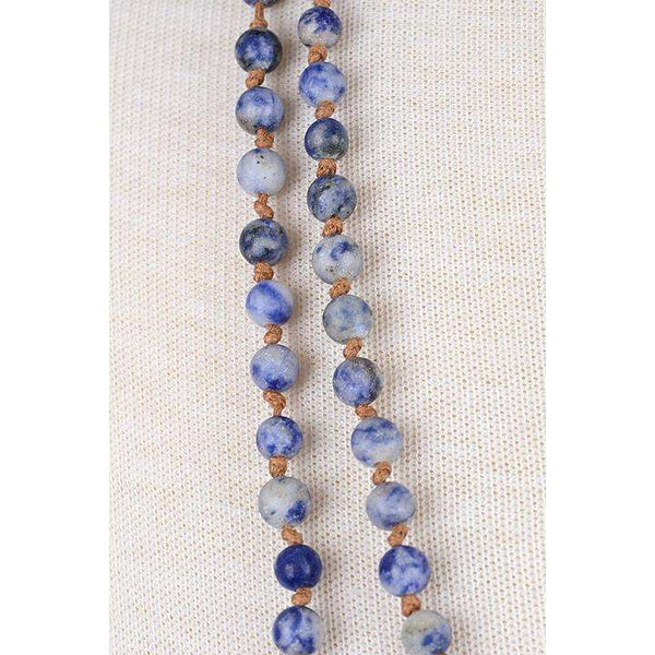 "Earth Tone 60"" Beaded Necklace"