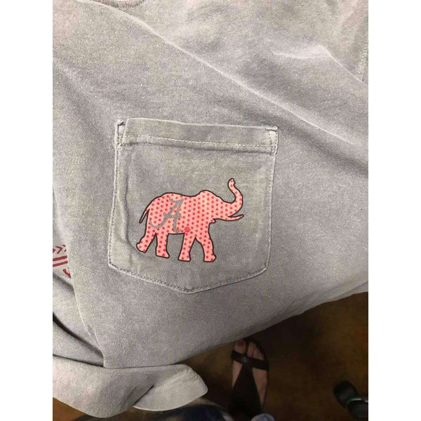 Crimson Tide Multi Color Alabama Tee Fabric Elephant