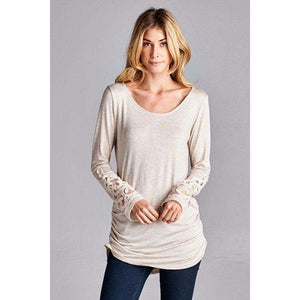 Merrilyn Cinched Sides Tunic with Crochet Detail