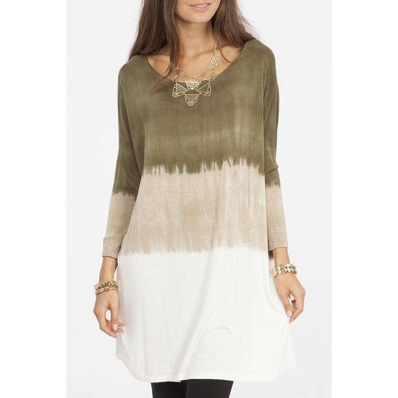 Lacey Olive Ombré Tunic