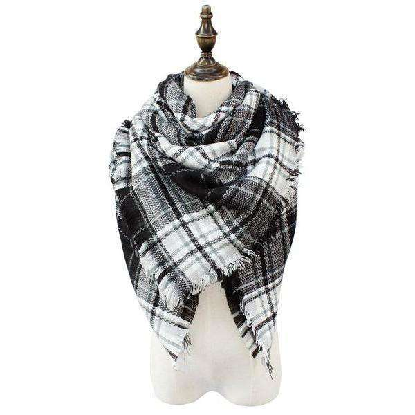 Felicity Plaid Blanket Scarf