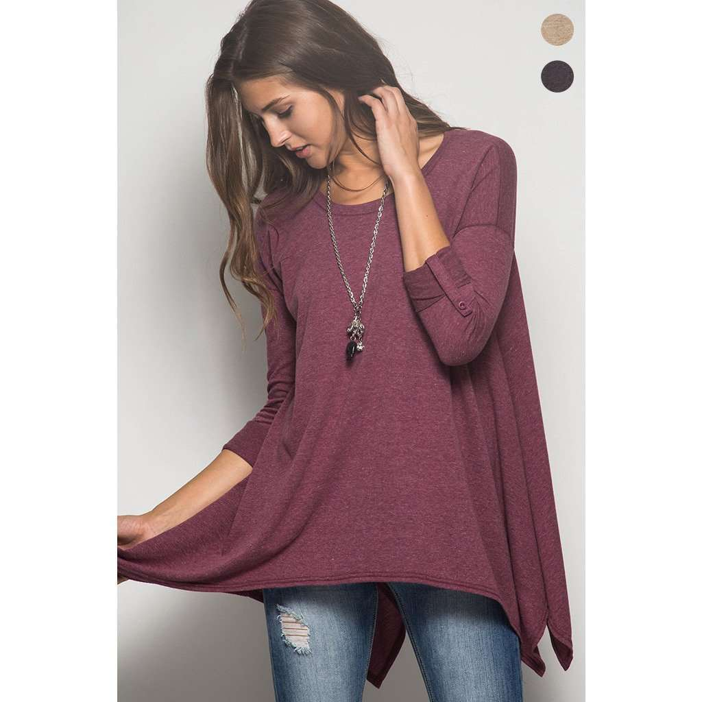Baylie Sharkbite Button Sleeve Top