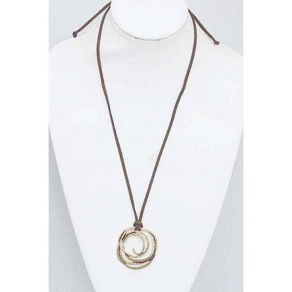 Ina Trance Hammered Necklace