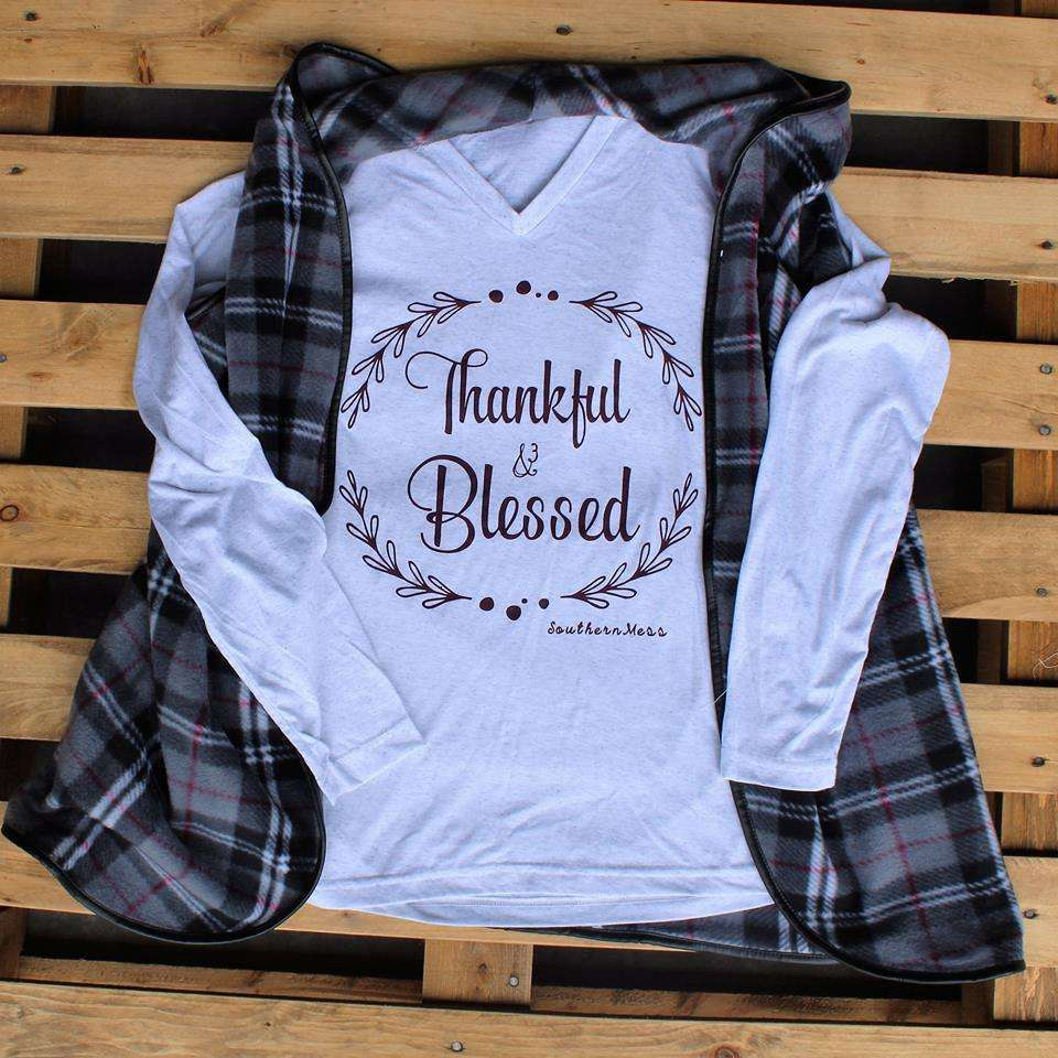 Thankful and Blessed L/S Tee