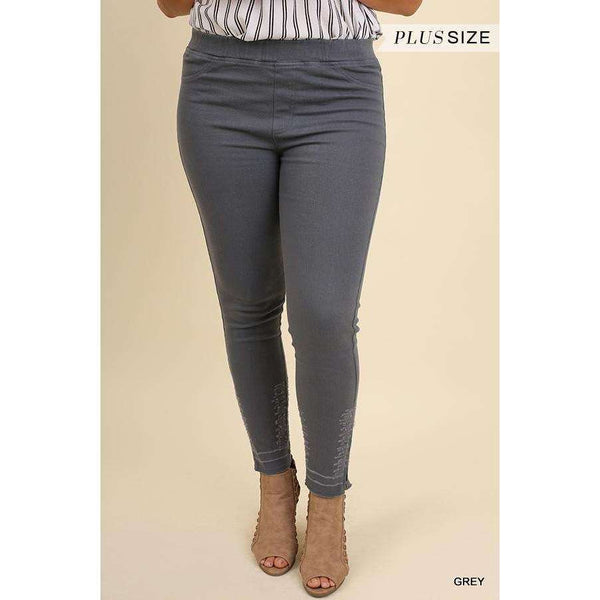 Jainey High Waisted Lush Leggings With Zipper And Distressing