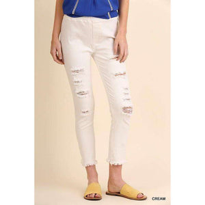 Lena Washed Distressed Jeggings