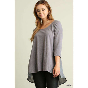 Amy Round Neck with High/Low Hemline