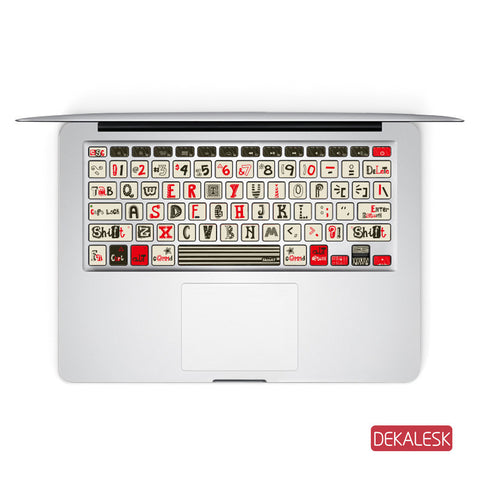 Play Card - MacBook Keyboard Stickers - DEKALESK