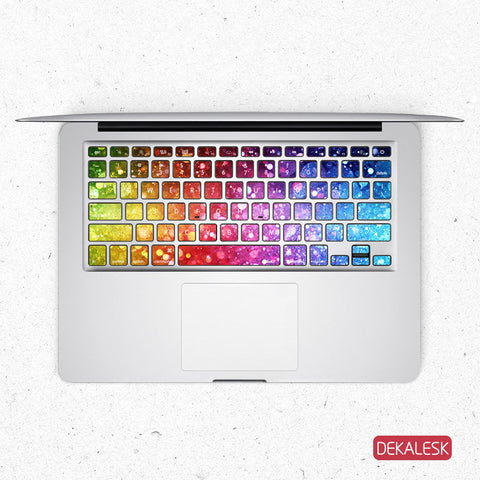 Rainbow Jump - MacBook Keyboard Stickers - DEKALESK