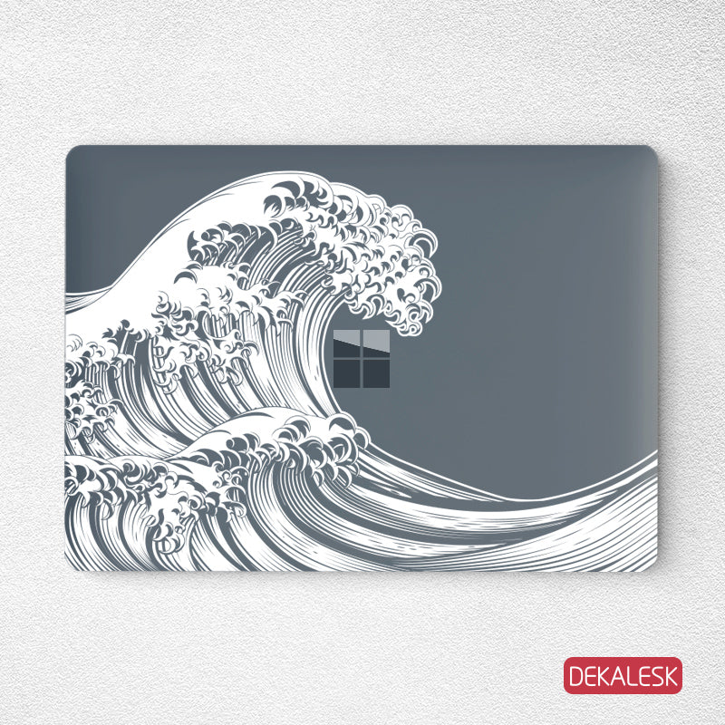 Great Wave- Surface Laptop Top Lid Skin - DEKALESK