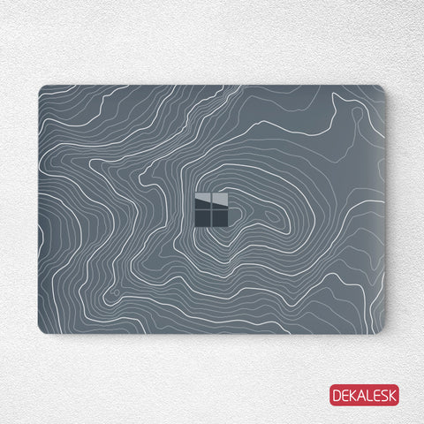 Terrain- Surface Laptop Top Lid Skin - DEKALESK