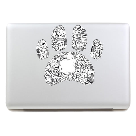 Footprints - MacBook Decal - DEKALESK
