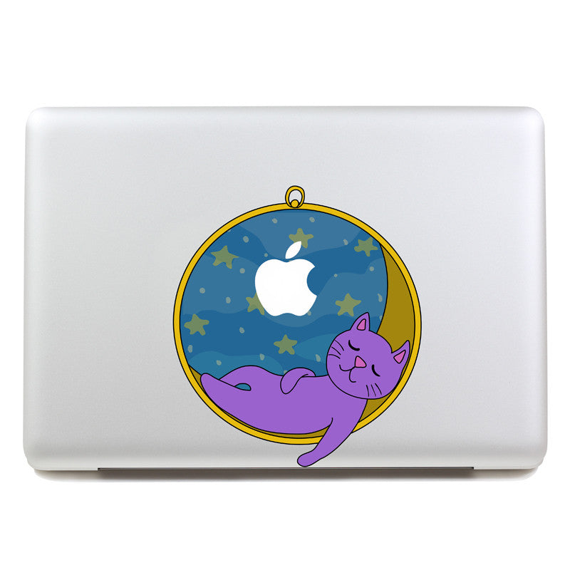 Sleeping Cat - MacBook Decal - DEKALESK