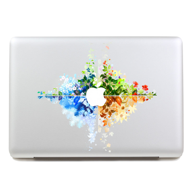 Seasonal Flowers - MacBook Decal - DEKALESK