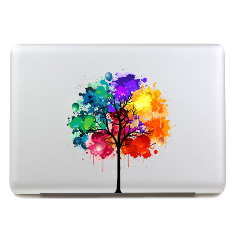 Multicolored Tree - MacBook Decal - DEKALESK