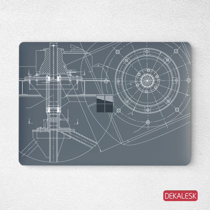 Engineering Drawing- Surface Laptop Top Lid Skin - DEKALESK
