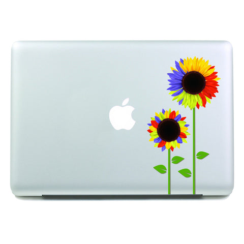 Colorful Sunflowers - MacBook Decal - DEKALESK