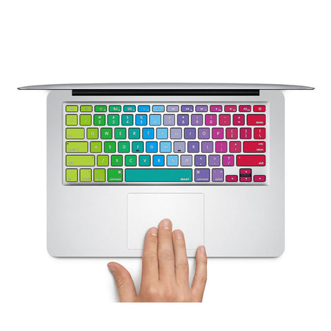 Rainbow Swatches - MacBook Keyboard Stickers - DEKALESK