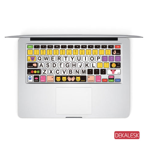 Emoji Logos - MacBook Keyboard Stickers - DEKALESK