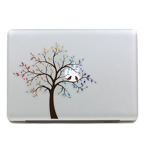 Rainbow Leaves - MacBook Decal - DEKALESK