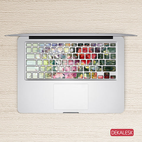 Elegant Painting - MacBook Keyboard Stickers - DEKALESK