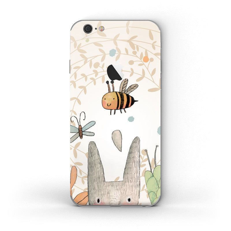 Bunny & Bubble Bee - iPhone 6/6S Skin - DEKALESK