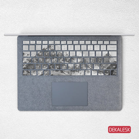 Snow Mountain- Surface Laptop/surface Book/Surface Pro Keyboard Keys Skin - DEKALESK