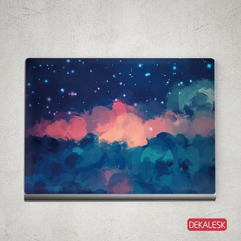 Red Cloudy Sky - Surface Book Skin - DEKALESK