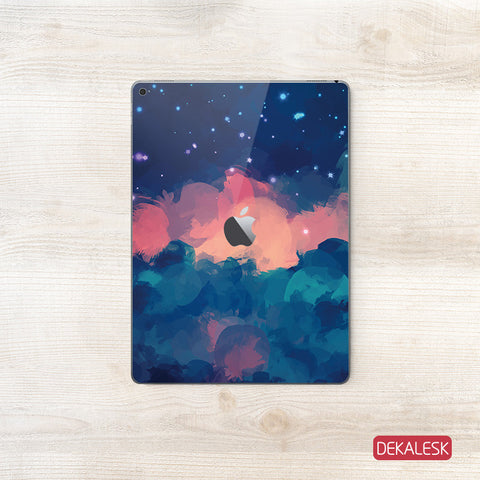 Red Cloudy Sky - iPad Pro Skin - DEKALESK