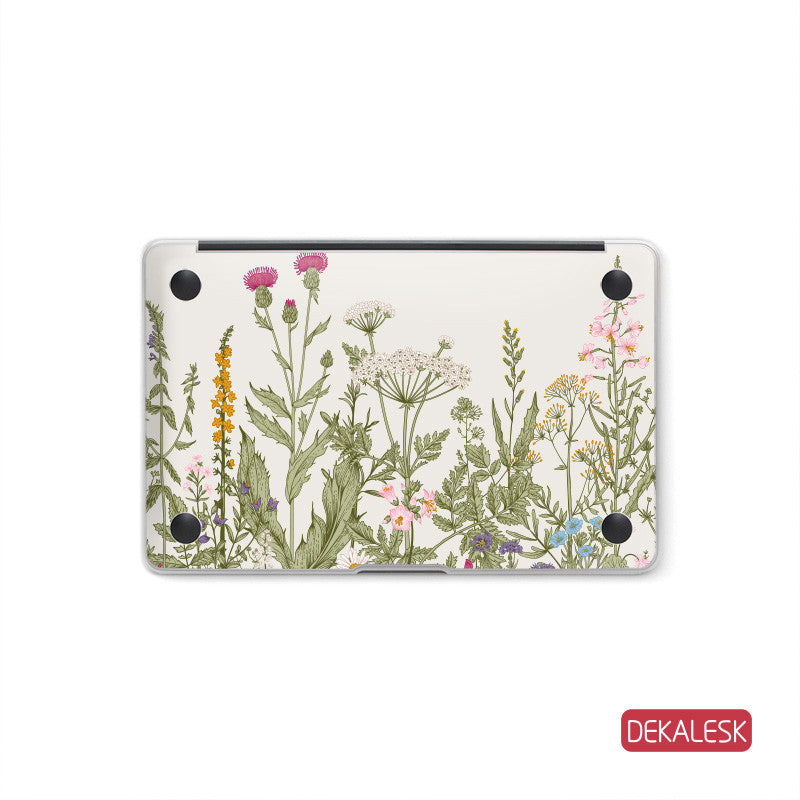 Thistle Garden - MacBook Bottom Skin - DEKALESK