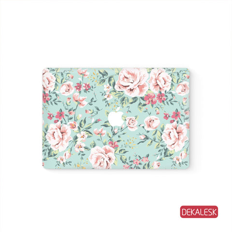Pink Flowers - MacBook Skin - DEKALESK