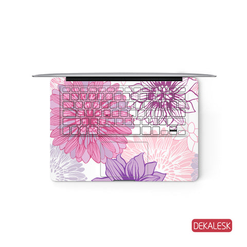 Blooming Flowers - MacBook Keyboard Skin - DEKALESK