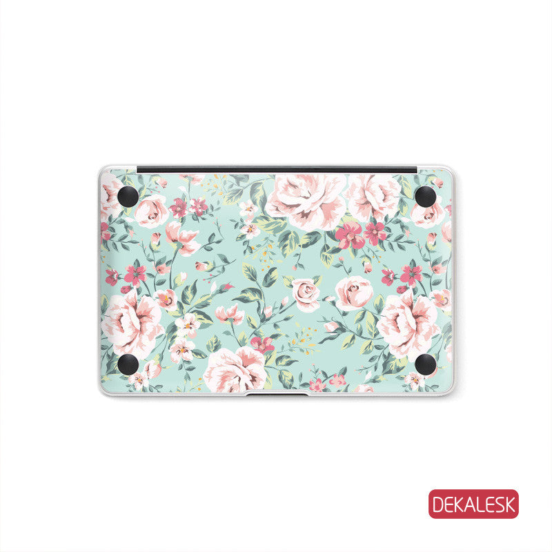 Pink Flowers - MacBook Bottom Skin - DEKALESK