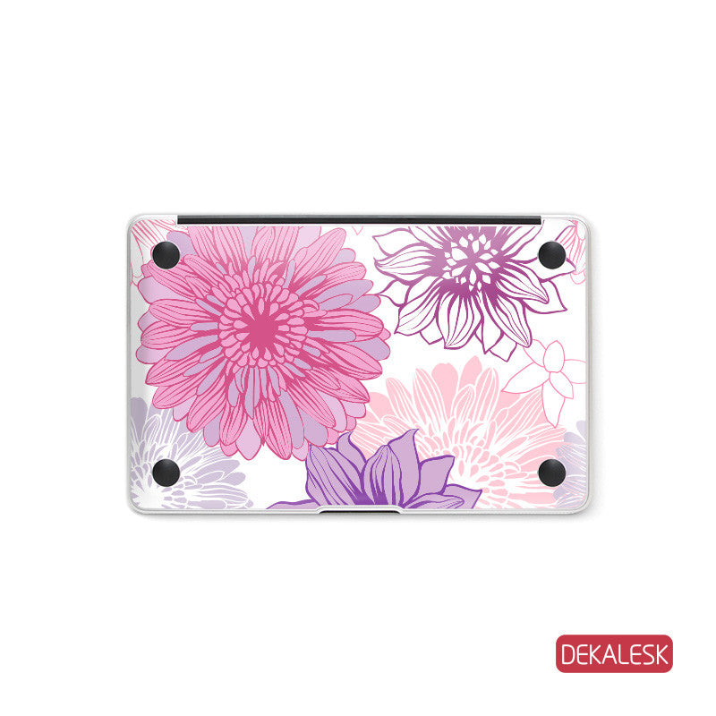 Blooming Flowers - MacBook Bottom Skin - DEKALESK