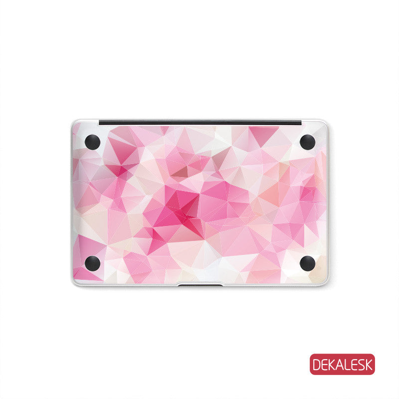 Pink Triangles - MacBook Bottom Skin - DEKALESK