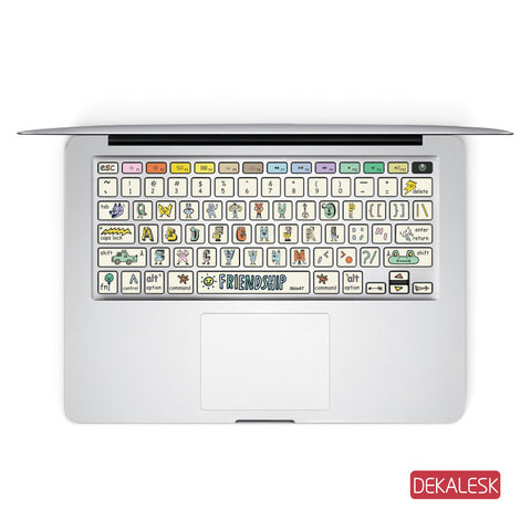 Friend Ship - MacBook Keyboard Stickers - DEKALESK