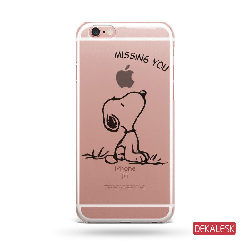 Missing You  - iPhone 6/6S Transparent Cases iPhone 6s/ 6s Plus / iPhone 7/ iPhone 7 Plus - DEKALESK