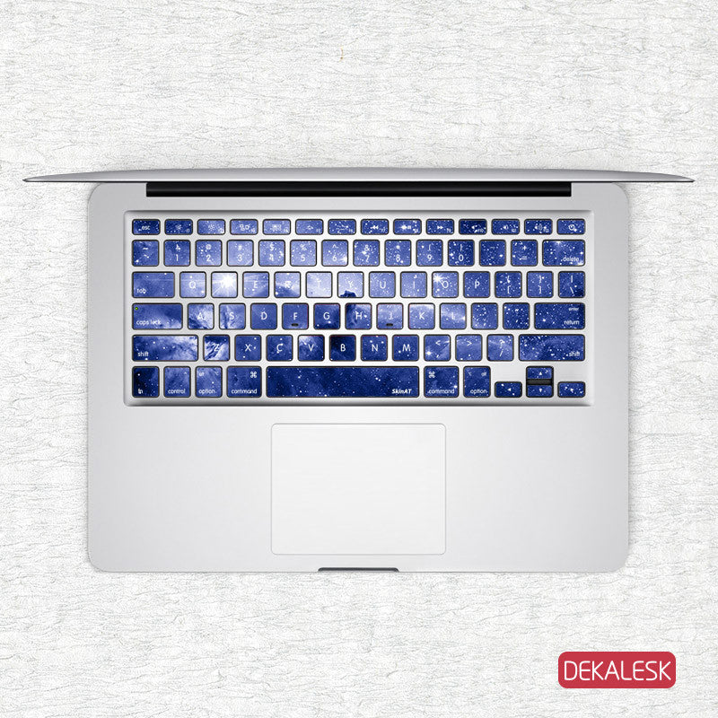 Universe Blue - MacBook Keyboard Stickers - DEKALESK