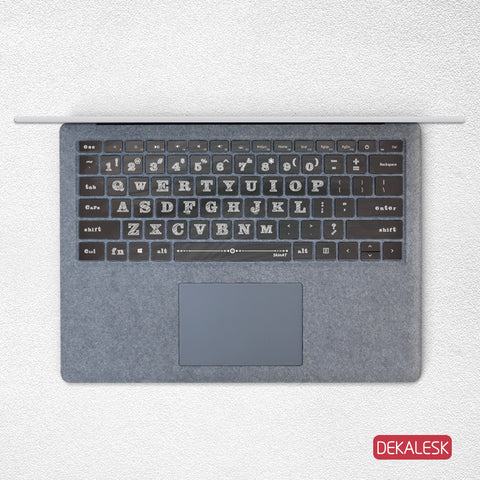 Chalk Board- Surface Laptop/surface Book/Surface Pro Keyboard Keys Skin - DEKALESK