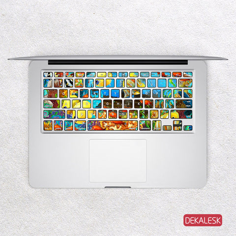 Seabed - MacBook Keyboard Stickers - DEKALESK