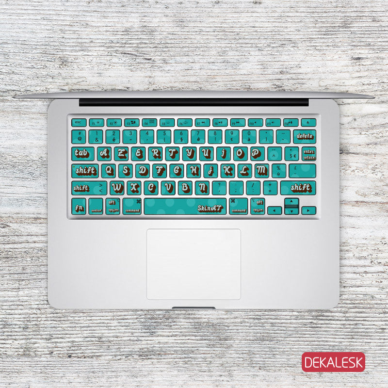 Large Print Blue - MacBook Keyboard Stickers - DEKALESK
