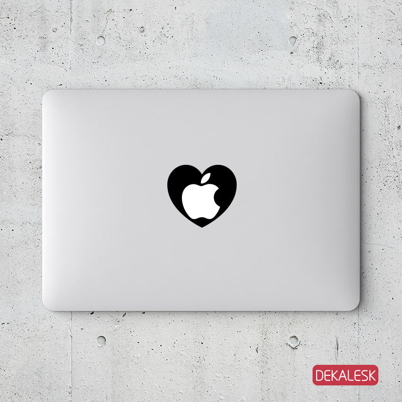 Apple Heart - MacBook Decal - DEKALESK