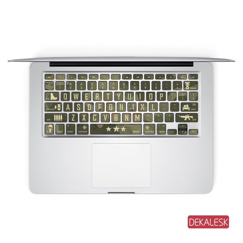 Green Colors - MacBook Keyboard Stickers - DEKALESK