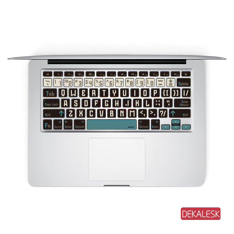 Black - MacBook Keyboard Stickers - DEKALESK