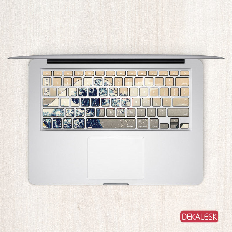 Great Wave off Kanagawa - MacBook Keyboard Stickers - DEKALESK