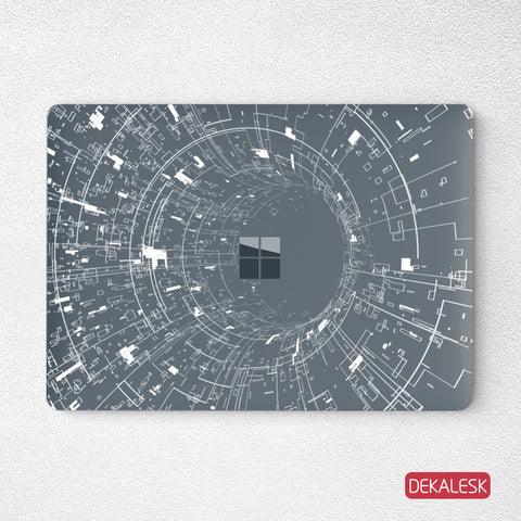 Wormhole- Surface Laptop Top Lid Skin - DEKALESK