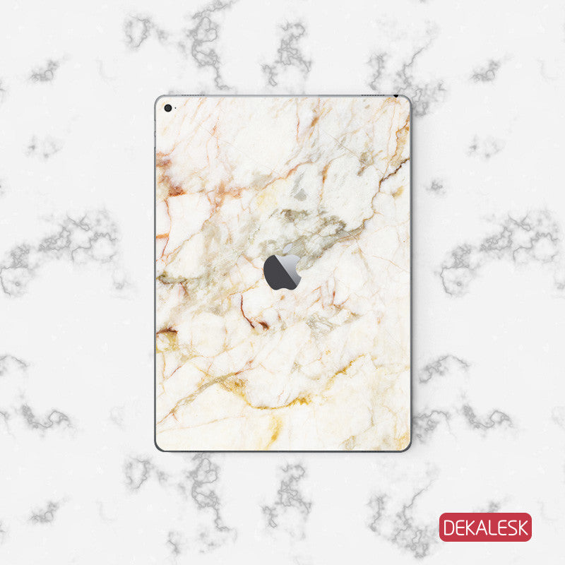Orange Marble - iPad Pro Skin - DEKALESK