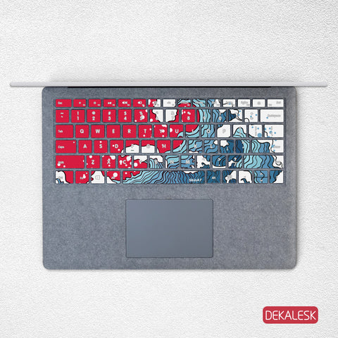 Great Waves- Surface Laptop/surface Book/Surface Pro Keyboard Keys Skin - DEKALESK